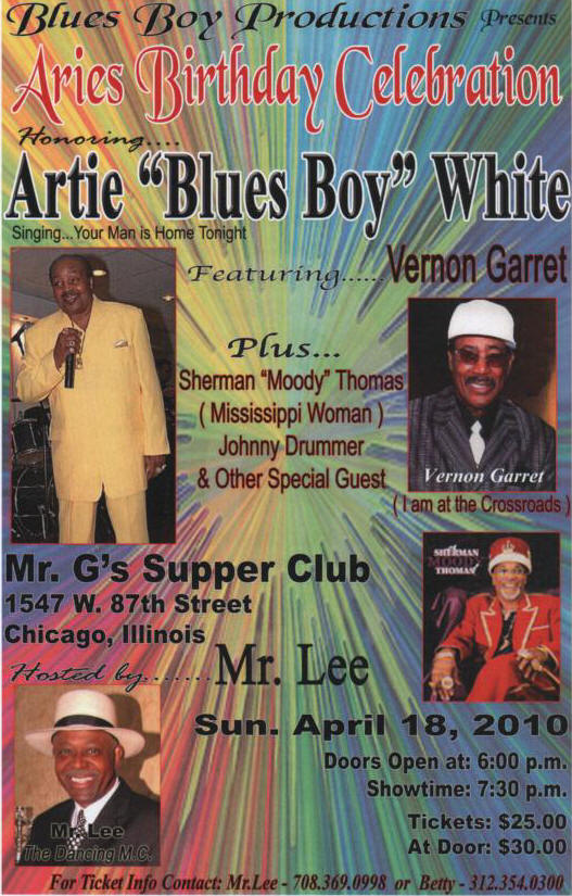 "Aries Birthday Celebration featuring Artie ""Blues Boy"" White!"